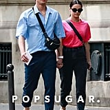 Camila Mendes and Charles Melton in Paris