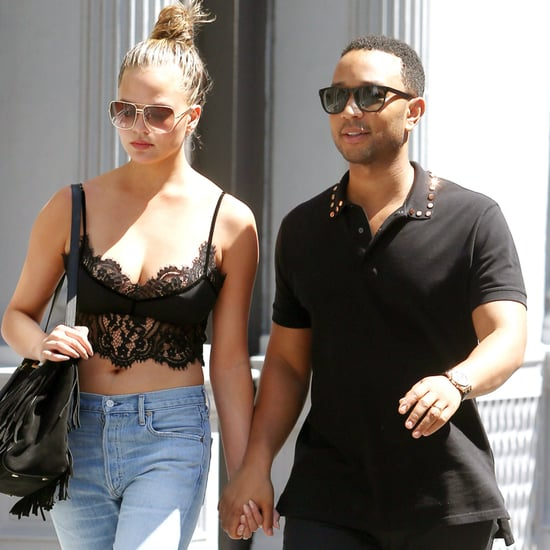 Chrissy Teigen and John Legend Hold Hands in NYC August 2016