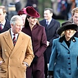 Will and Kate's First Christmas Service at Sandringham Together