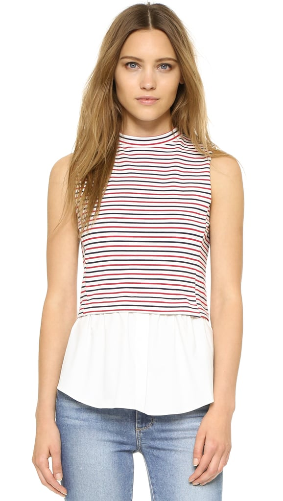 English Factory Stripe Layer Top ($57)