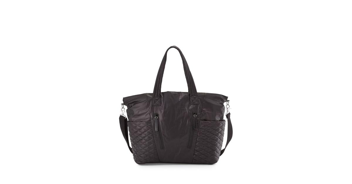 Rebecca Minkoff Yoko Leather Trim Baby Bag Black 163 239