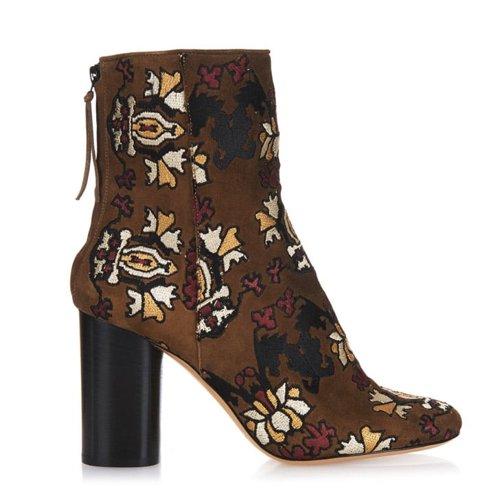 Isabel Marant Embroidered Suede Ankle Boots ($1,480)