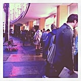 The media line for The Great Gatsby was longer than normal. . . But so worth it!