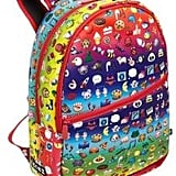 Rainbow Emoji-Print Backpack