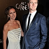 Edward Norton and Shauna Robertson posed at the opening dinner of the Cannes Film Festival.