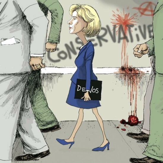 Ruby Bridges Betsy DeVos Offensive Cartoon