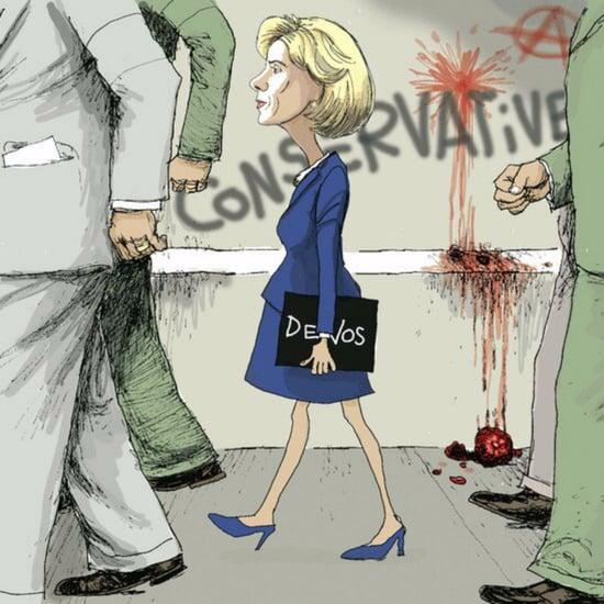 Ruby Bridges Betsy DeVos Offensive Cartoon
