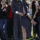 Kate Middleton Wears Polka-Dot Dress to Bletchley Park 2019