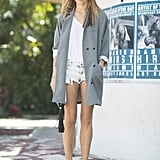 When you add sharp outerwear and spunky shades to them, they're hardly just cutoffs anymore. Source: Le 21ème | Adam Katz Sinding