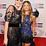 Heidi Klum and Fergie at the 2010 American Music Awards