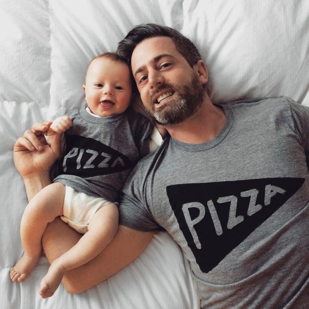 Matching Pizza Shirts Set