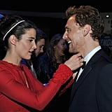 Cobie Smulders helped Tom with his bow tie.