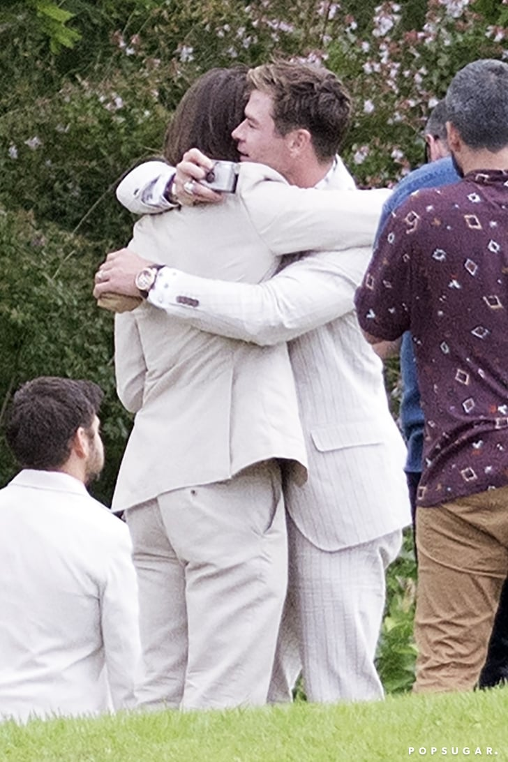 Chris Hemsworth And Elsa Pataky At Brother S Wedding 2018