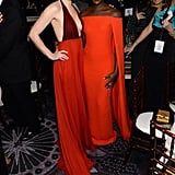 Amy Adams and Lupita Nyong'o were visions in red.  Source: Larry Busacca/NBC/NBCU Photo Bank/NBC