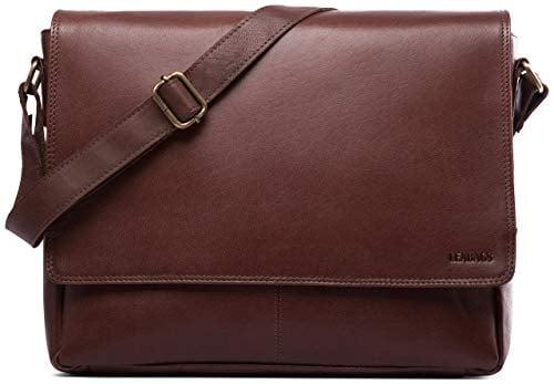 Cute Christmas Gifts For Boyfriend.Oxford Genuine Buffalo Leather Messenger Bag Cute