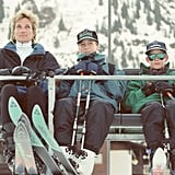 When she managed a perfect mom coif on a ski lift.