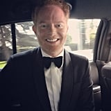 Jesse Tyler Ferguson showed off his bow tie on his way to the show. Source: Instagram user jessetyler