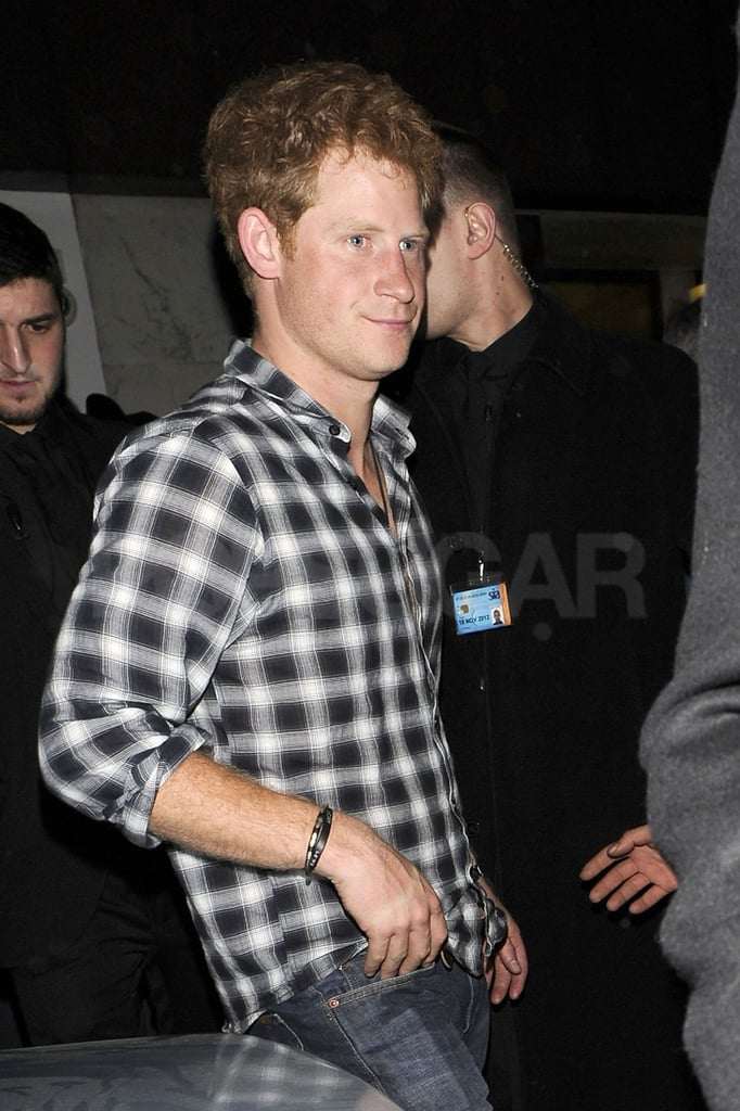 Prince Harry spent a night out in London.
