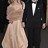 Pierre and Beatrice looked gorgeous arriving at the March 2014 Rose Ball in Monaco.