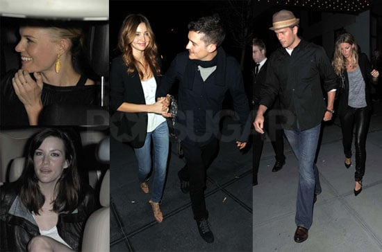 Photos of Gisele Bundchen, Tom Brady, Miranda Kerr, Orlando Bloom, Liv Tyler, Kate Hudson, Kate Bosworth in NYC