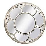 Round Floral Wall Mirror Set