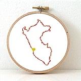 Peru Map Hoop