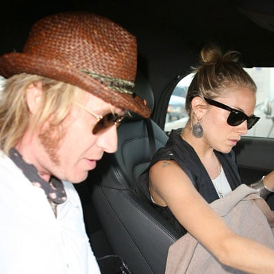 Sienna Miller and Rhys Ifans Get Gas
