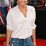 Christina Milian hit the red carpet at the Iris premiere.