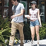 Leighton Meester Shows Skin For Breakfast With Her Beau Adam Brody
