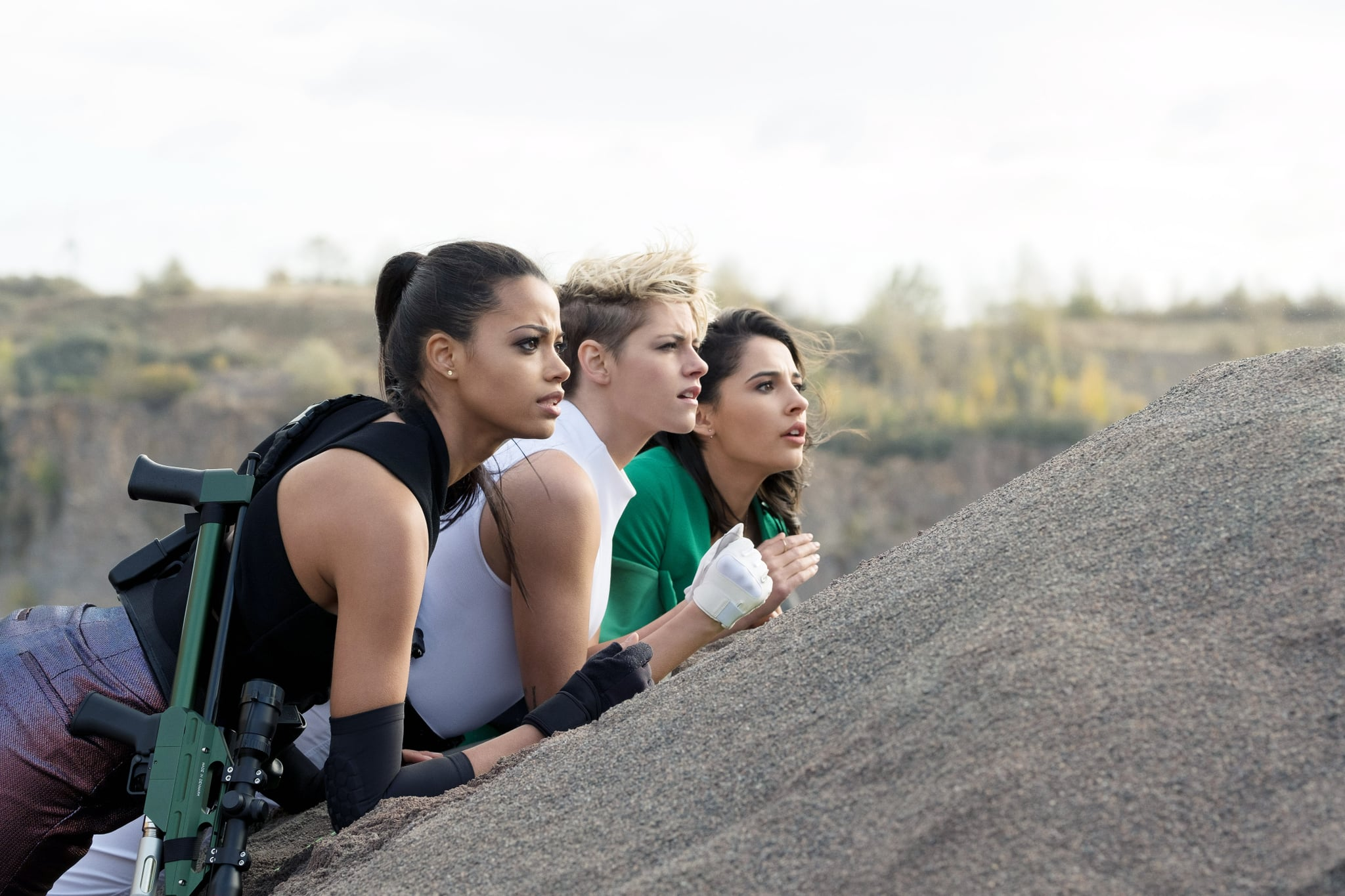 CHARLIE'S ANGELS, from left: Ella Balinska, Kristen Stewart, Naomi Scott, 2019. ph: Nadja Klier /  Columbia / courtesy Everett Collection
