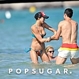 Shirtless Cristiano Ronaldo and Bikini-Clad Irina Shayk Share Sexy PDA in Saint-Tropez