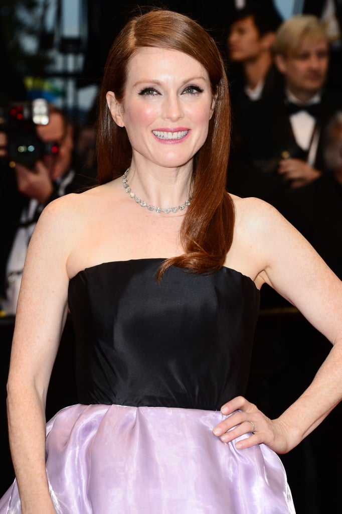 Julianne Moore graced the red carpet for The Great Gatsby with her hair sleek and parted on the side. Her makeup focused on the eyes, L'Oreal Super Liner Liquid Eyeliner, ($19.56) used to define. Her cheeks were flushed with the brand's True Match Super-Blendable Blush in Sandalwood Pink ($25.95), and her lips were swiped with Colour Riche Lipcolour in Berry Blush. To get Julianne's sleek sided part, she used L'Oreal Elnett Satin Absolute Extreme Hold Hairspray ($9.99).