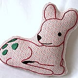 Embroidered Baby Deer Pillow ($26)