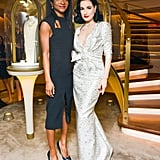 Dita Von Teese and Genevieve Jones at the Van Cleef & Arpels New York flagship unveiling.