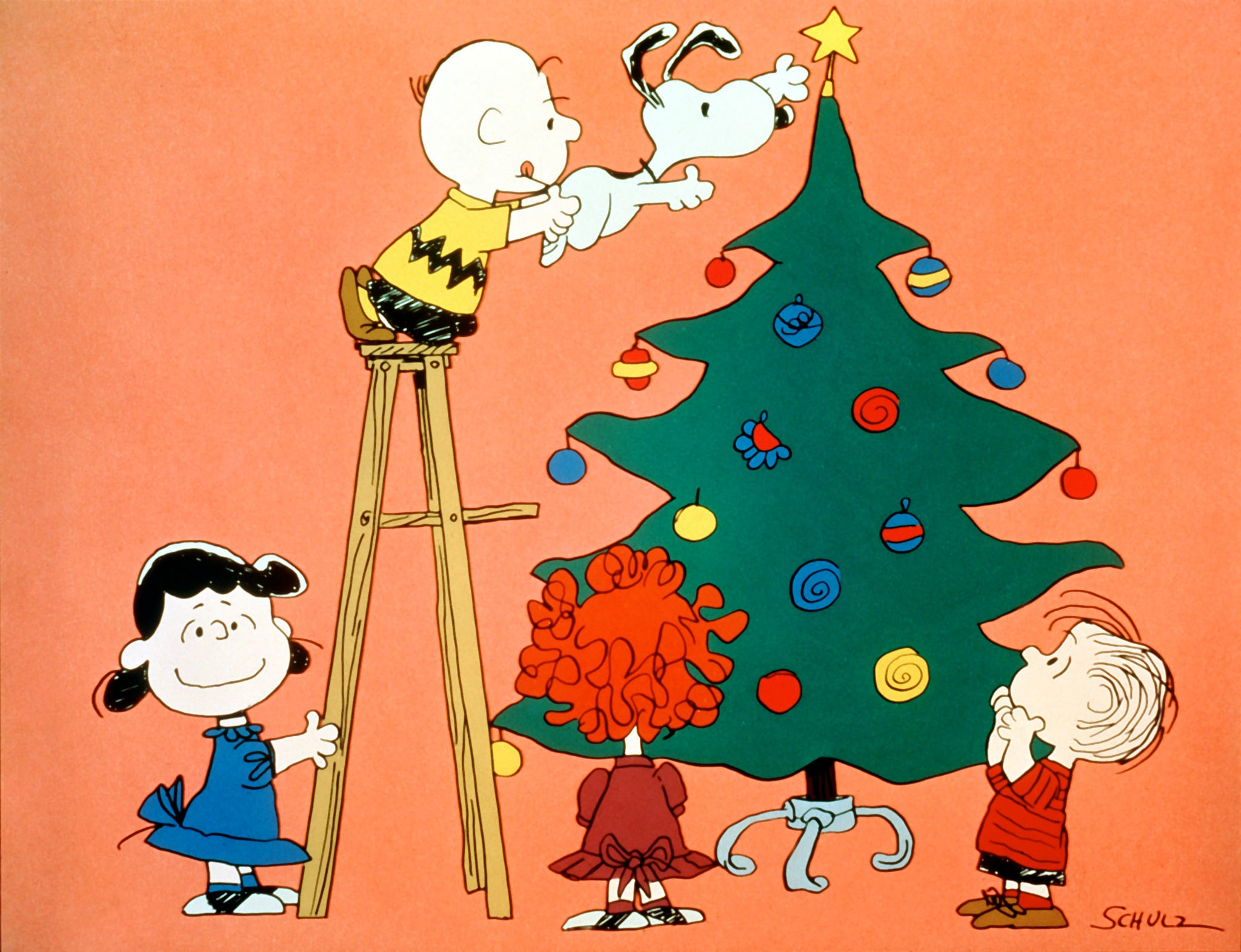 A CHARLIE BROWN CHRISTMAS, Lucy, Charlie Brown, Snoopy, Frieda, Linus, 1965