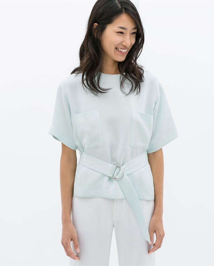 Zara Belted Top