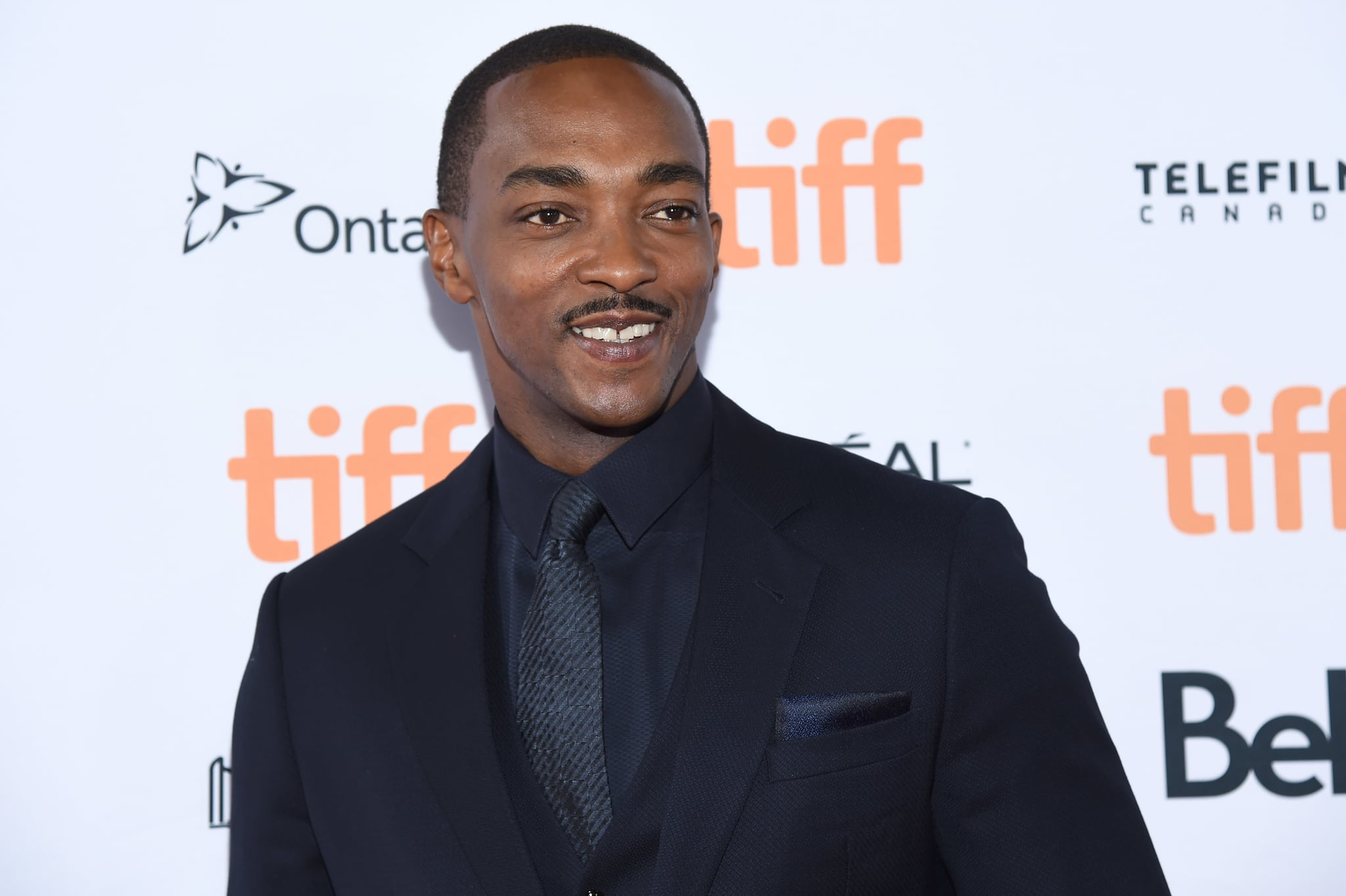 TORONTO, ONTARIO - SEPTEMBER 07: Anthony Mackie attends the