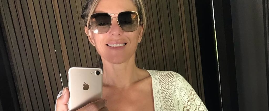 Elizabeth Hurley's Nearly Topless Selfie Almost Distracted Us From Her Sexy Beach Cover Up