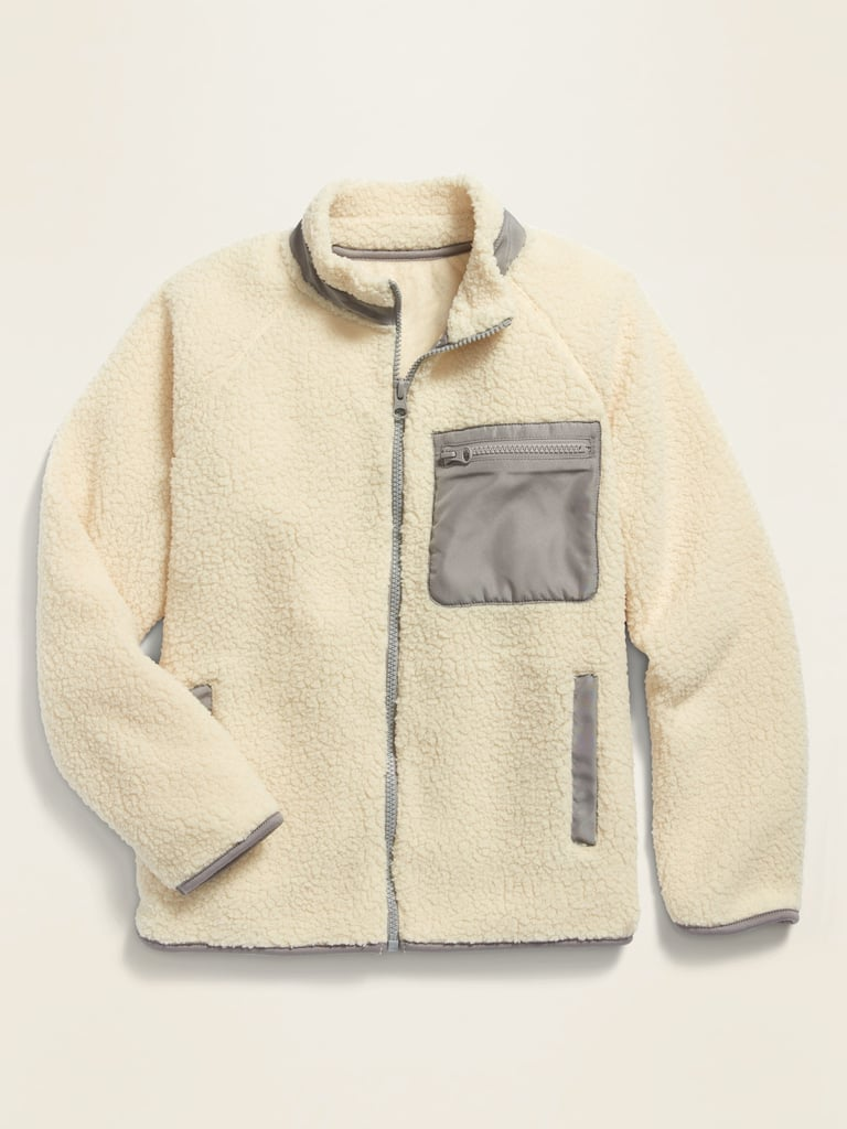 POPSUGAR x Old Navy Sherpa Zip-Pocket Jacket For Kids