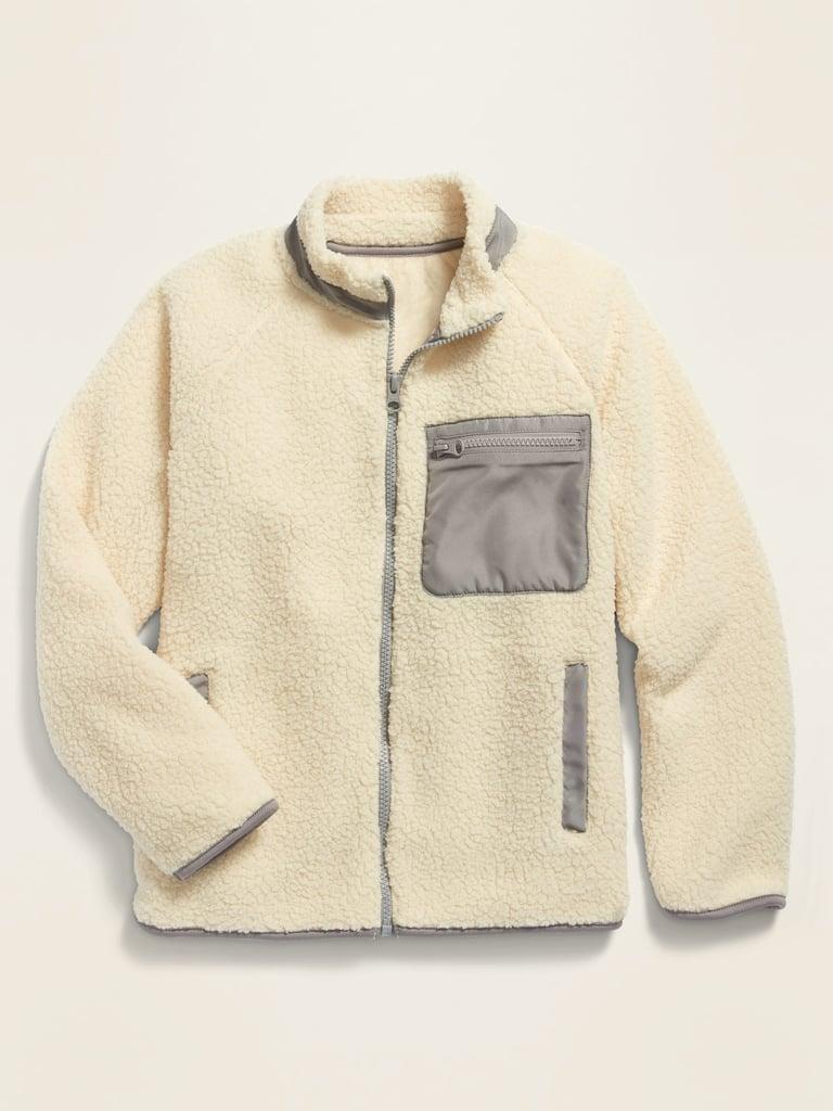 POPSUGAR x Old Navy Sherpa Zip-Pocket Unisex Jacket For Kids