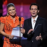 Fergie and Marc Anthony took the stage at the 2012 Grammys.