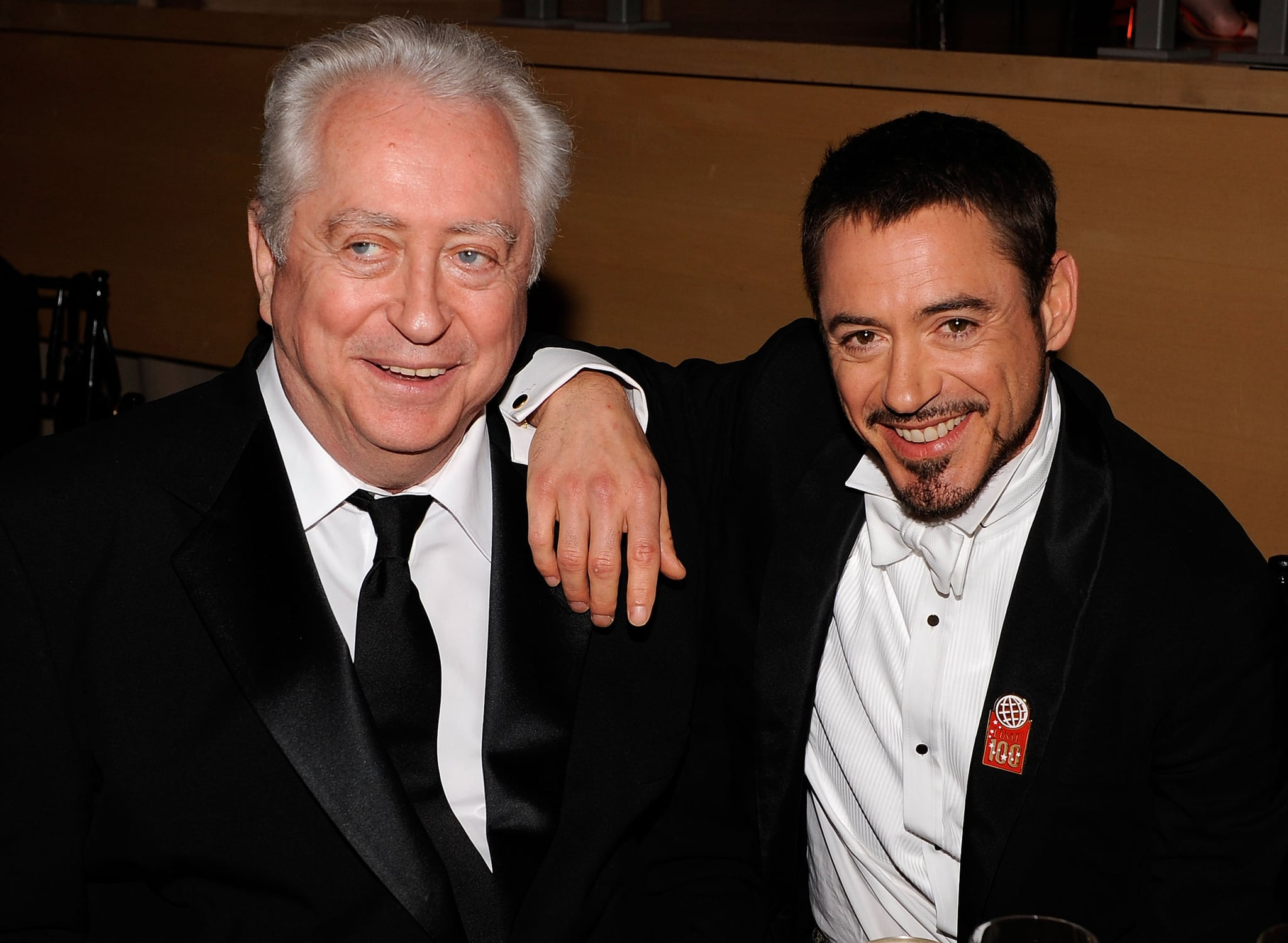 NEW YORK - MAY 08:  Director Robert Downey Sr. and actor Robert Downey Jr. attend Time's 100 Most Influential People in the World gala at Jazz at Lincoln Centre on May 8, 2008 in New York City.  (Photo by Larry Busacca/WireImage)