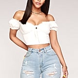 Fashion Nova Morning Light Off Shoulder Top