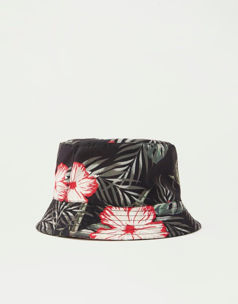 Pull&Bear Tropical Print Rain Hat