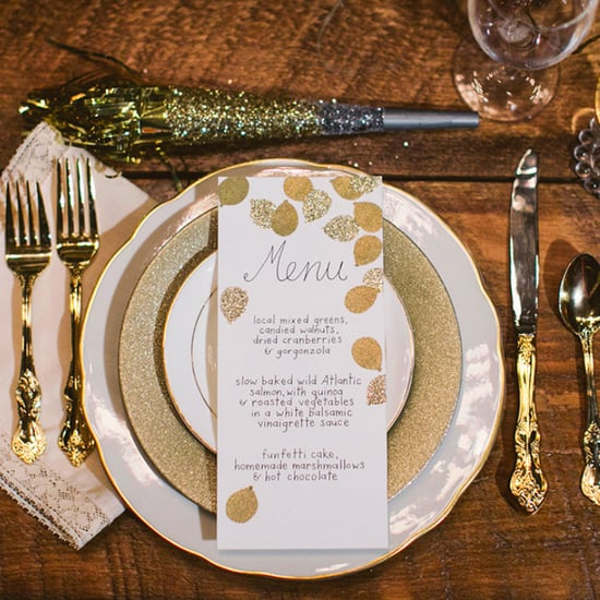 gold and glitter new years eve wedding