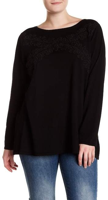 Cable & Gauge Lace Accent Knit Sweater ($35, originally $70)