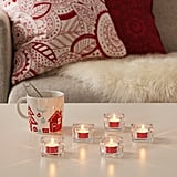 Vinterfest Red Unscented Tealights