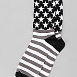 These black-and-white USA socks ($8 or three for $20) are perfectly patriotic with a little bit of edge.