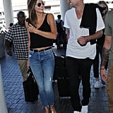 Their first official sighting together, at LAX on August 12, 2015.