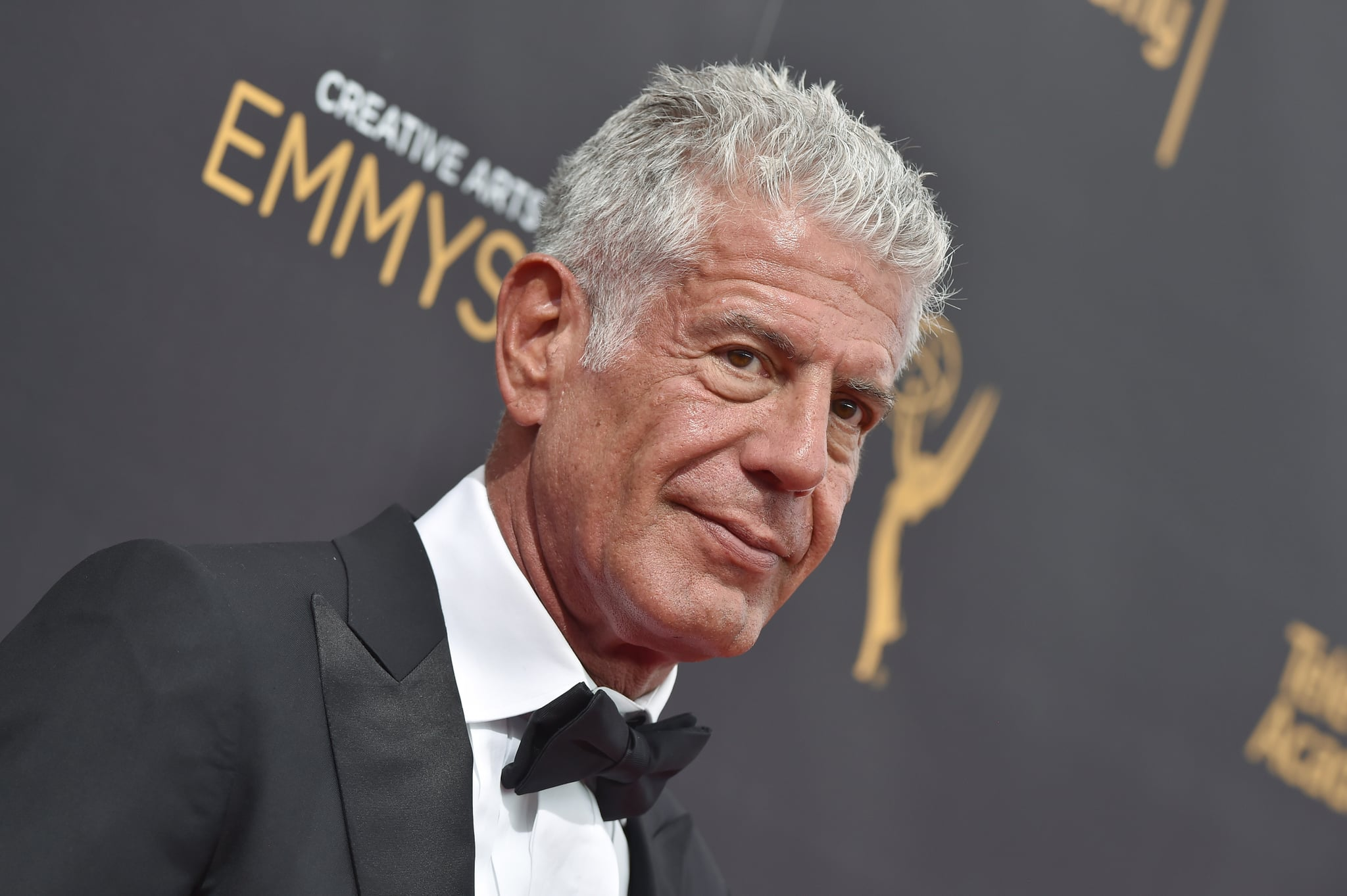 LOS ANGELES, CA - SEPTEMBER 11:  Chef/TV personality Anthony Bourdain arrives at the 2016 Creative Arts Emmy Awards at Microsoft Theater on September 11, 2016 in Los Angeles, California.  (Photo by Axelle/Bauer-Griffin/FilmMagic)